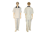 CHECK-UP KIT (MANNEQUIN) | Polo shirt and sweatpants in grey cotton, included in the medical check-up kit. Available in various sizes.