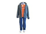 MEN CLOTHING KIT (MANNEQUIN) | Example of male clothing kit, available in various sizes.