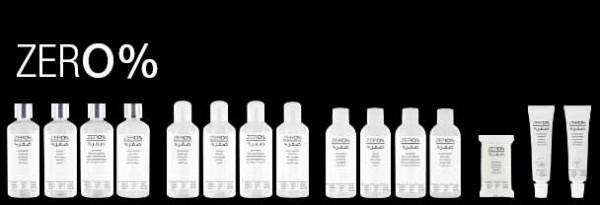 line up cosmética ZERO% en árabe