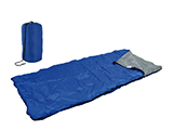 RECTANGULAR SLEEPING BAG | Rectangular sleeping bag made from polyester, presented in a transport case. Ideal for sleeping under cover.